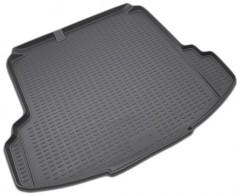 Коврик в багажник для Volkswagen Jetta V '06-10 седан, полиуретановый (Novline) черный