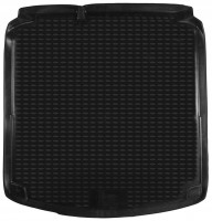 Коврик в багажник для Volkswagen Jetta VI '10-, коврик прямоугольный, полиуретановый (Novline) черный