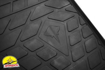 Коврики в салон для Suzuki SX4 '16-, резиновые, черные (Evolution)