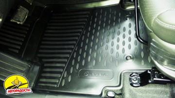 Коврики в салон 3D для Hyundai Creta '16- полиуретановые (Novline/Element)