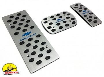 Накладки на педали Chevrolet АКПП 3 шт. (J-tec)
