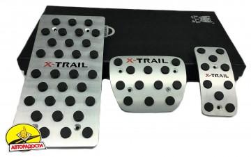 Накладки на педали NISSAN X-Trail T32 АКПП 3 шт. (J-tec)