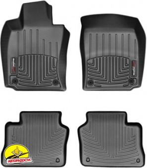 Коврики в салон для Porsche Panamera 2010 - 2016 черные, резиновые 3D (WeatherTech)