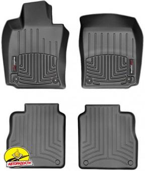 Коврики в салон для Porsche Panamera 2010 - 2016 черные, резиновые 3D (WeatherTech) Long