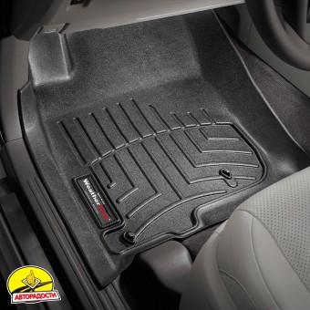 Коврики в салон для Toyota LC Prado 150 2010 - 2013 черные, резиновые 3D (WeatherTech)