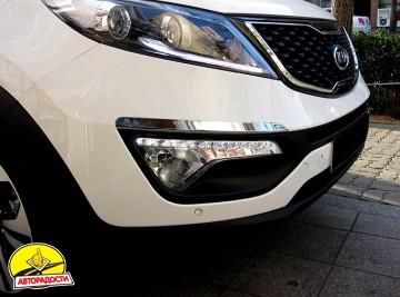 2 - Дневные ходовые огни для Kia Sportage '10-15 (ПТФ) (LED-DRL)