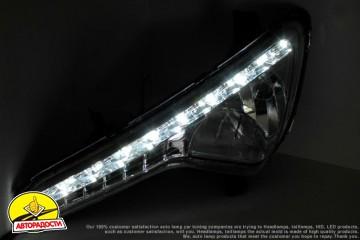 5 - Дневные ходовые огни для Kia Sportage '10-15 (ПТФ) (LED-DRL)