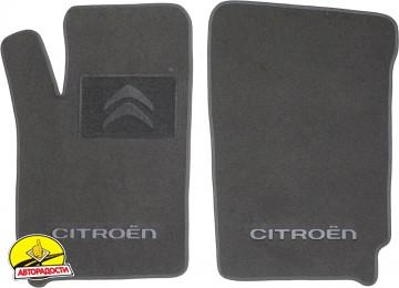 Коврики в салон для Citroen Berlingo '97-07 текстильные, серые (Люкс) передние