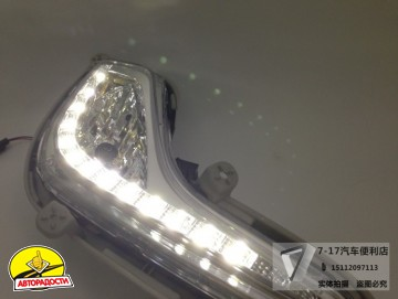 Дневные ходовые огни для Hyundai Accent '11- ПТФ с DRL (LED-DRL)