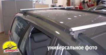 Багажник на рейлинги для Opel Zafira '99-05, аэродинамический, сквозной (Десна-Авто)