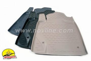 Коврики в салон для Hyundai Elantra HD '06-10 полиуретановые (Novline)