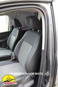 Авточехлы Premium для салона Kia Rio '05-11, седан серая строчка (MW Brothers)