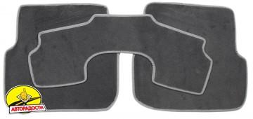 Коврики в салон для Audi A6 '05-10 текстильные, серые (Люкс)