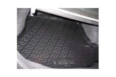 Фото 2 - Коврик в багажник для Nissan Tiida '05-14 седан, резиновый (Lada Locker)