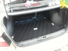 Коврик в багажник для Daewoo Lanos '98- седан, резино/пластиковый (Lada Locker)