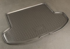 Коврик в багажник для Mitsubishi Lancer X '07- хетчбэк, полиуретановый (NorPlast) черный