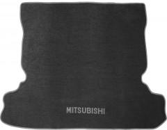 Коврик в багажник для Mitsubishi Pajero Wagon 4 (IV) '07-, текстильный серый