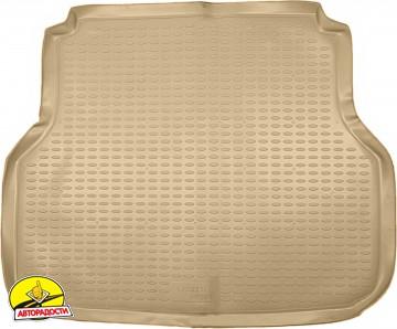 Коврик в багажник для Chevrolet Lacetti '03-12 универсал, полиуретановый (Novline) бежевый