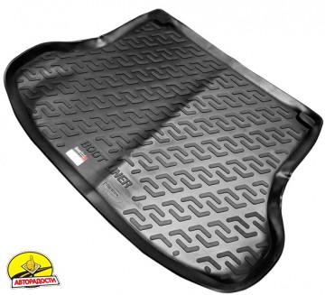 Коврик в багажник для Nissan Tiida '05-14 седан, резиновый (Lada Locker)