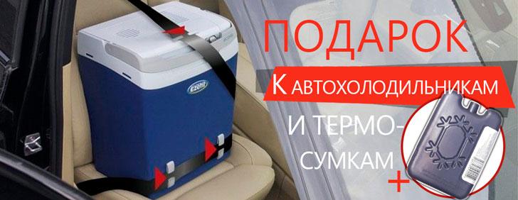 К автохолодильникам и термосумкам аккумулятор холода в подарок!