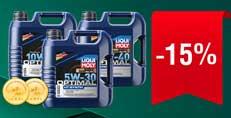 Акція! Знижка -15% на моторні оливи LIQUI MOLY серії OPTIMAL 4 літри!