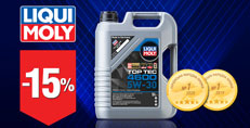 Скидка -15% на моторное масло LIQUI MOLY TOP TEC 4600 5W-30 (5 л)