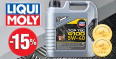 Скидка -15% на моторное масло LIQUI MOLY Top Tec 4100 5W-40 (4 л.)