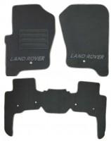 Коврики в салон для Land Rover Discovery 4 '09-16 текстильные, серые (Премиум)