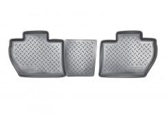 Коврики в салон для Citroen Berlingo '08-12 задние, 3 дв. полиуретановые, черные (Nor-Plast)