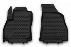Коврики в салон передние для Fiat Fiorino Qubo '08- полиуретановые, черные (Novline / Element)