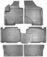 Коврики в салон для Hyundai Veracruz (ix55) '06-12 полиуретановые, серые (Novline / Element)