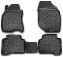 Коврики в салон для Nissan X-Trail T30 '01-07 полиуретановые, черные (Novline / Element)
