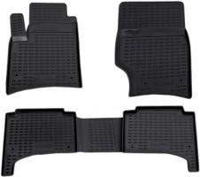 Коврики в салон для Volkswagen Touareg '02-09 полиуретановые, черные (Novline / Element) EXP.NLC.51.01.210