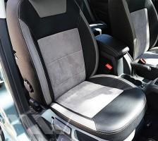 Авточехлы Leather Style для салона Skoda Octavia A5 '05-13 светлые, без заднего подлокотника (MW Brothers)