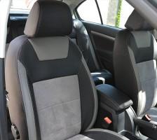 Авточехлы Leather Style для салона Skoda Octavia A5 '05-13 светлые, с задним подлокотником (MW Brothers)0