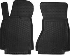 Коврики в салон передние для Audi A6 '14- резиновые, черные (AVTO-Gumm)