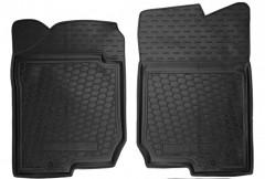 Коврики в салон передние для Kia Carens '07-12 резиновые, черные (AVTO-Gumm)