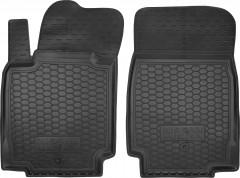 Коврики в салон передние для Nissan Micra '03-10 резиновые, черные (AVTO-Gumm)
