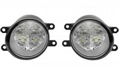 Противотуманные фары для Toyota Corolla '07-12 LED комплект, светодиодные (Dlaa)