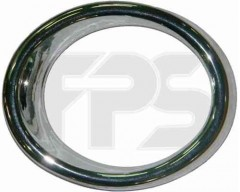 Рамка противотуманной фары для Chevrolet Aveo '08-11 Хетчбек T255 левая, хром (FPS) FP 1710 913