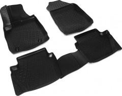 Коврики в салон для Ford Fiesta '13-17 резиновые 3D  (Lada Locker)