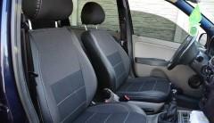 Авточехлы Premium для салона Lada (Ваз) Калина 1117-19 '04-13, серая строчка (MW Brothers)