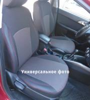 Авточехлы Premium для салона Skoda Superb '15-, красная строчка (MW Brothers)