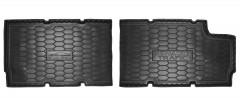 Коврики в салон для Renault Trafic '15-, третий ряд, резиновые, черные (AVTO-Gumm)