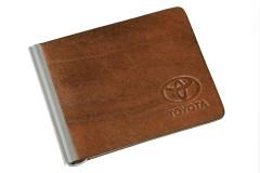 Фото 1 - Зажим для денег коричневый Toyota