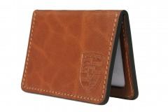 Обложка для прав/тех.паспорта коричневая Porsche