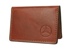 Обложка для прав/тех.паспорта коричневая Mercedes