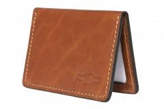 Обложка для прав/тех.паспорта коричневая Chevrolet