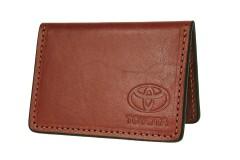 Обложка для прав/тех.паспорта коричневая Toyota