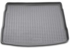 Коврик в багажник для Volkswagen Golf V '04-09 хетчбэк, с полноразмерным зап. колесом, полиуретановый (Novline) черный
